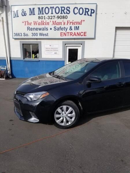 2015 Toyota Corolla for sale at M&M Motors in Salt Lake City UT