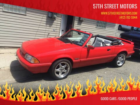 1992 Ford Mustang for sale at 57th Street Motors in Pittsburgh PA
