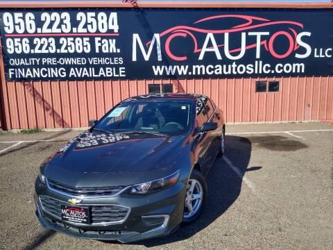 2018 Chevrolet Malibu for sale at MC Autos LLC in Pharr TX