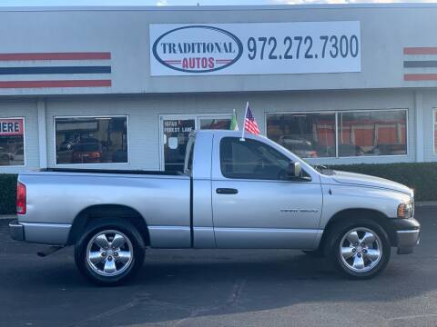 2003 Dodge Ram Pickup 1500 for sale at Traditional Autos in Dallas TX