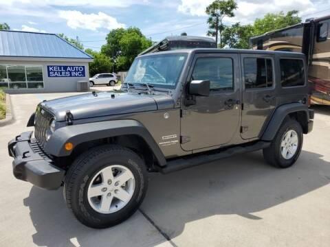 2018 Jeep Wrangler JK Unlimited for sale at Kell Auto Sales, Inc - Grace Street in Wichita Falls TX