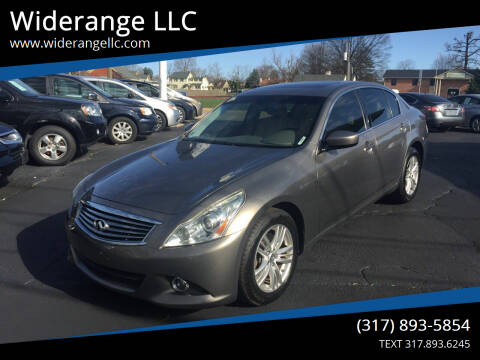 2012 Infiniti G37 Sedan for sale at Widerange LLC in Greenwood IN