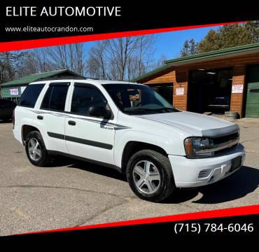 2005 Chevrolet TrailBlazer for sale at ELITE AUTOMOTIVE in Crandon WI