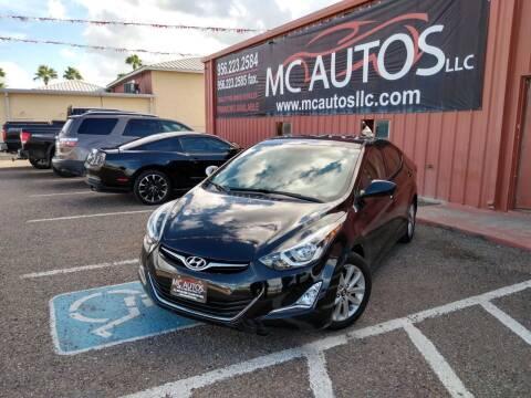2016 Hyundai Elantra for sale at MC Autos LLC in Pharr TX