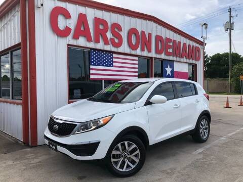 2016 Kia Sportage for sale at Cars On Demand 3 in Pasadena TX