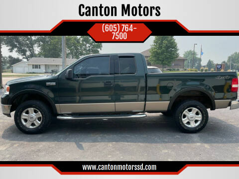 2004 Ford F-150 for sale at Canton Motors in Canton SD