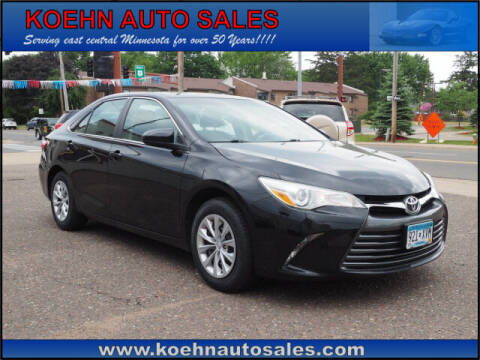 2015 Toyota Camry for sale at Koehn Auto Sales in Lindstrom MN