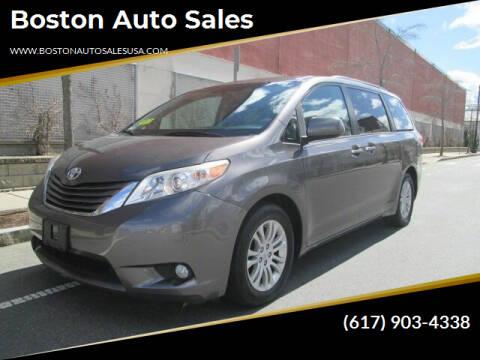 2012 Toyota Sienna for sale at Boston Auto Sales in Brighton MA