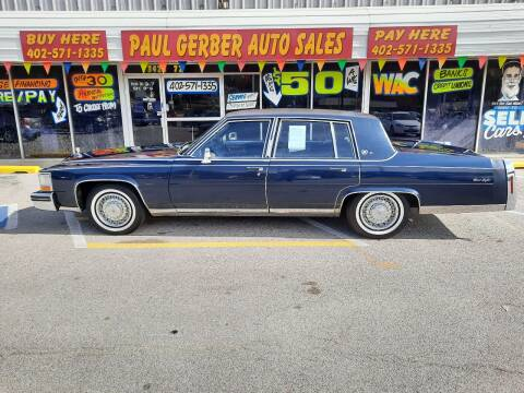 1984 Cadillac Fleetwood Brougham for sale at Paul Gerber Auto Sales in Omaha NE