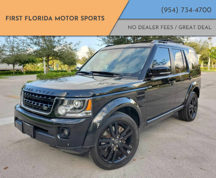 2014 Land Rover LR4 for sale at FIRST FLORIDA MOTOR SPORTS in Pompano Beach FL