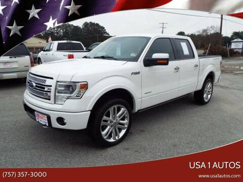 2013 Ford F-150 for sale at USA 1 Autos in Smithfield VA