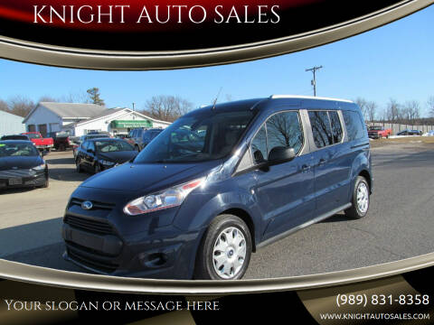 2017 Ford Transit Connect Wagon for sale at KNIGHT AUTO SALES in Stanton MI