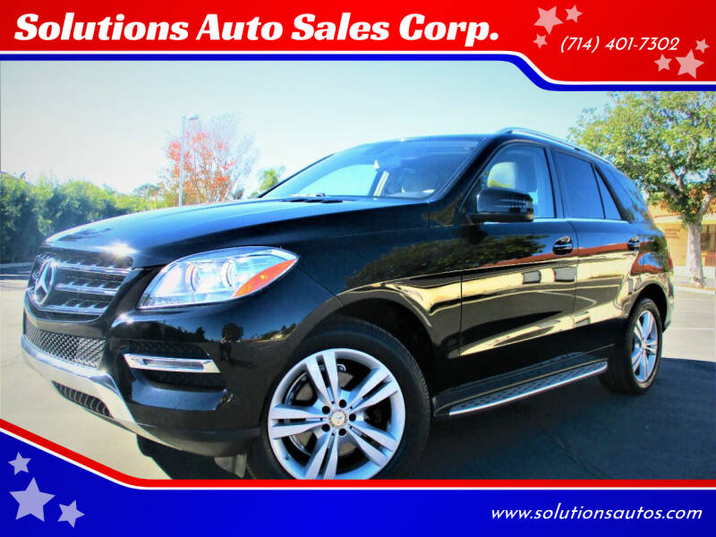 2015 Mercedes-Benz M-Class for sale at Solutions Auto Sales Corp. in Orange CA