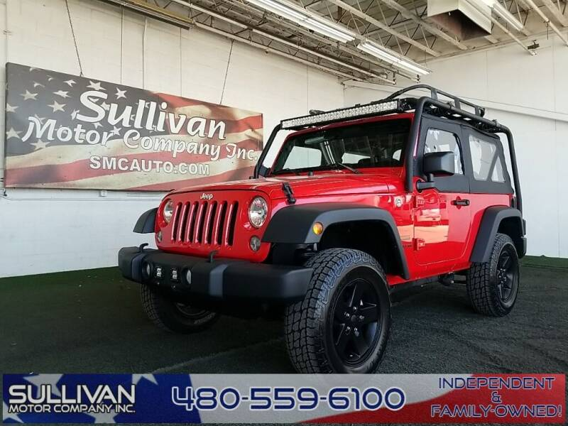 2016 Jeep Wrangler for sale at SULLIVAN MOTOR COMPANY INC. in Mesa AZ