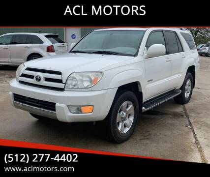 2004 Toyota 4Runner for sale at ACL MOTORS in Austin TX