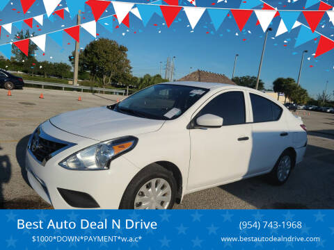 2018 Nissan Versa for sale at Best Auto Deal N Drive in Hollywood FL