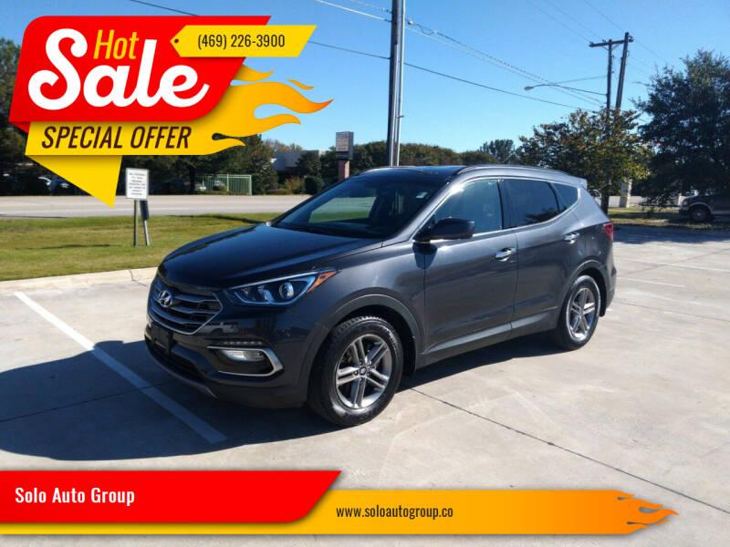 2017 Hyundai Santa Fe Sport for sale at Solo Auto Group in Mckinney TX