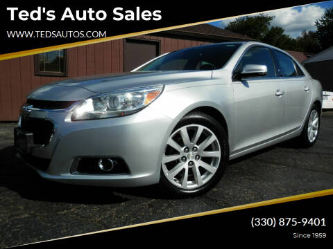 2015 Chevrolet Malibu for sale at Ted's Auto Sales in Louisville OH