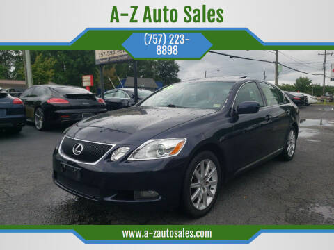 2006 Lexus GS 300 for sale at A-Z Auto Sales in Newport News VA