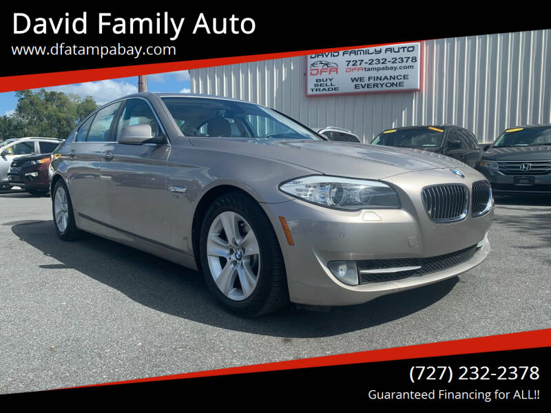 2012 BMW 5 Series for sale at David Family Auto in New Port Richey FL