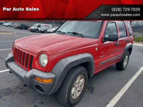 2004 Jeep Liberty for sale at Par Auto Sales in Lenoir NC