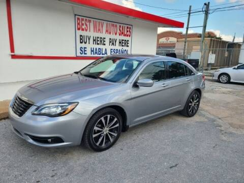 2013 Chrysler 200 for sale at Best Way Auto Sales II in Houston TX