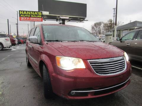 2014 Chrysler Town and Country for sale at Hanna's Auto Sales in Indianapolis IN