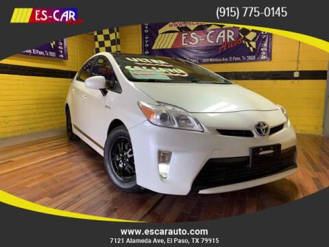 2012 Toyota Prius for sale at Escar Auto - 9809 Montana Ave Lot in El Paso TX