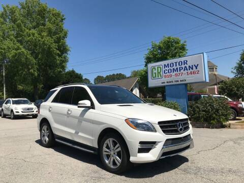 2015 Mercedes-Benz M-Class for sale at GR Motor Company in Garner NC