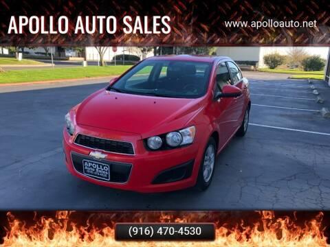 2014 Chevrolet Sonic for sale at APOLLO AUTO SALES in Sacramento CA