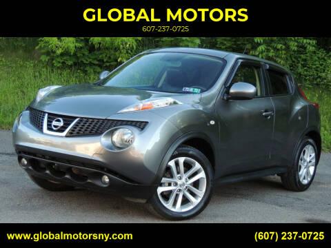 2011 Nissan JUKE for sale at GLOBAL MOTORS in Binghamton NY