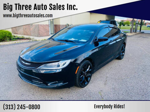 2016 Chrysler 200 for sale at Big Three Auto Sales Inc. in Detroit MI