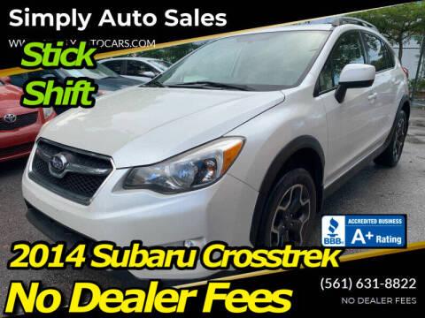 2014 Subaru XV Crosstrek for sale at Simply Auto Sales in Palm Beach Gardens FL