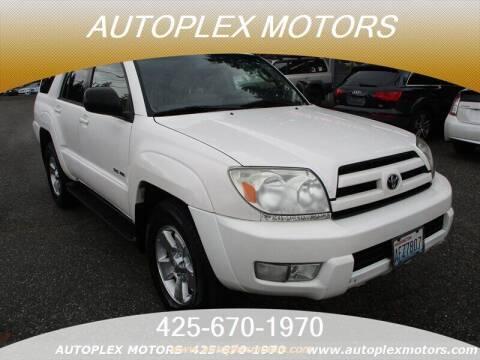 2004 Toyota 4Runner for sale at Autoplex Motors in Lynnwood WA
