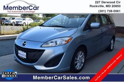 2012 Mazda MAZDA5 for sale at MemberCar in Rockville MD