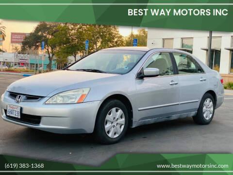 2004 Honda Accord for sale at BEST WAY MOTORS INC in San Diego CA
