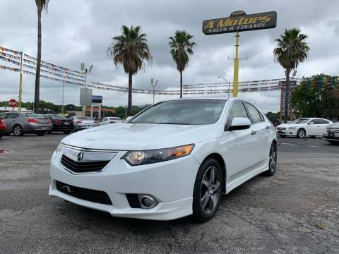 2013 Acura TSX for sale at A MOTORS SALES AND FINANCE in San Antonio TX