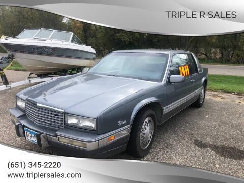1989 Cadillac Eldorado for sale at Triple R Sales in Lake City MN
