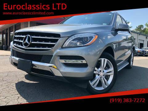 2015 Mercedes-Benz M-Class for sale at Euroclassics LTD in Durham NC