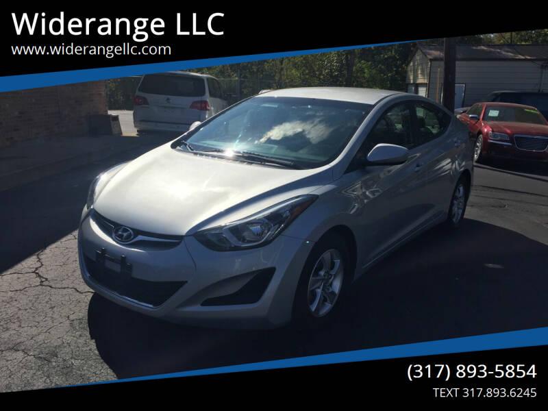 2014 Hyundai Elantra for sale at Widerange LLC in Greenwood IN