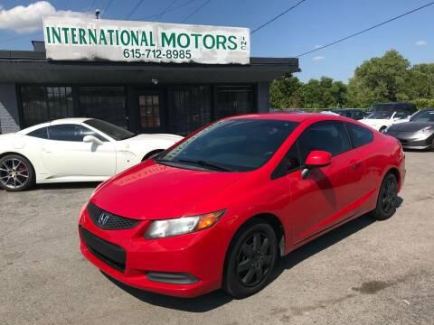 2012 Honda Civic for sale at International Motors Inc. in Nashville TN