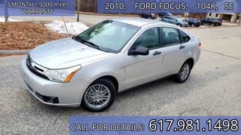 2010 Ford Focus for sale at Wheeler Dealer Inc. in Acton MA