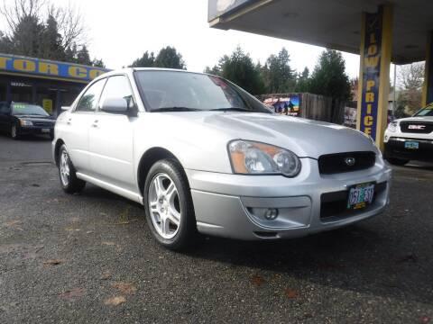 2004 Subaru Impreza for sale at Brooks Motor Company, Inc in Milwaukie OR
