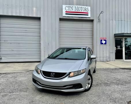2014 Honda Civic for sale at CTN MOTORS in Houston TX