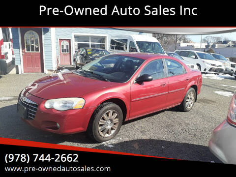 2006 Chrysler Sebring for sale at Pre-Owned Auto Sales Inc in Salem MA