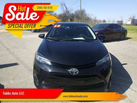 2017 Toyota Corolla for sale at Tubbs Auto LLC in Tuscaloosa AL