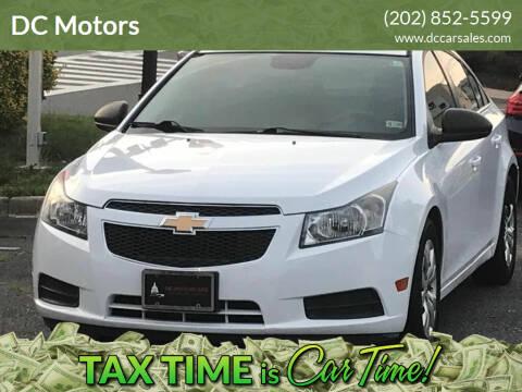 2012 Chevrolet Cruze for sale at DC Motors in Springfield VA