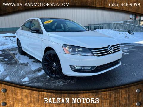 2015 Volkswagen Passat for sale at BALKAN MOTORS in East Rochester NY