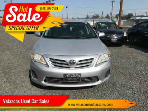 2013 Toyota Corolla for sale at Velascos Used Car Sales in Hermiston OR