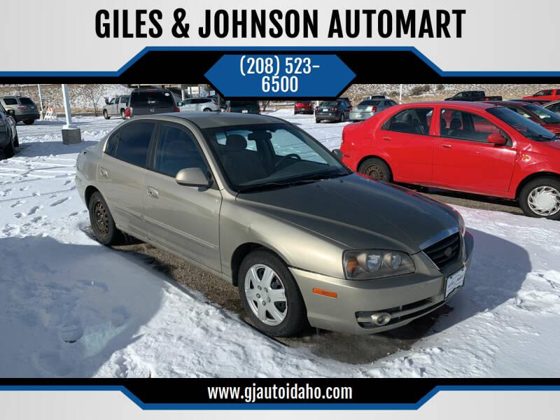 2005 Hyundai Elantra for sale at GILES & JOHNSON AUTOMART in Idaho Falls ID